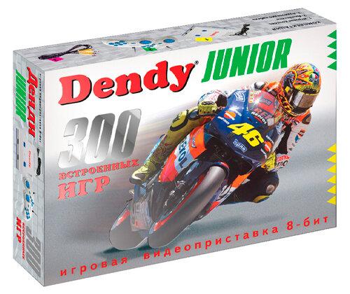 Игровая приставка 8-bit Dendy Junior (300 игр)