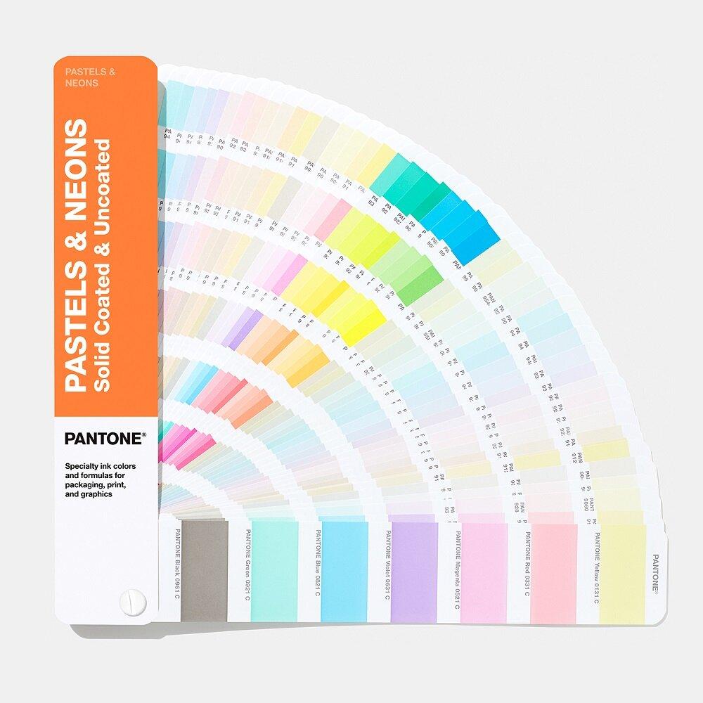 Цветовой справочник Pantone Pastels & Neons Coated/Uncoated 2019