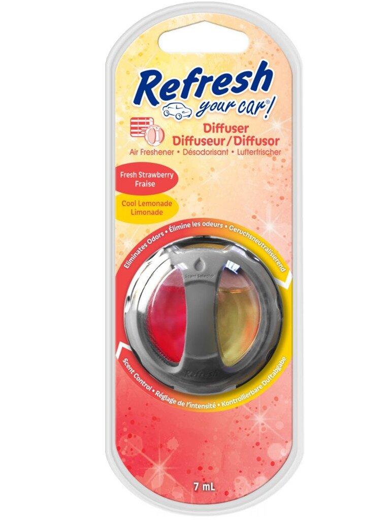 Освежитель воздуха автомобильный Energizer RYC Диффузор Клубника-Прохладный лимонад 1шт E301410600 / 37288