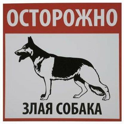 Табличка REXXON злая собака 20х20х0,2 см