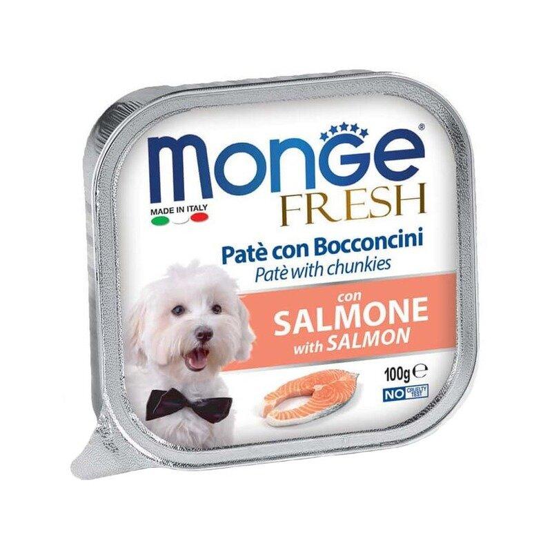 Monge Dog Fresh влажный корм для взрослых собак с лососем в ламистерах - 100 г