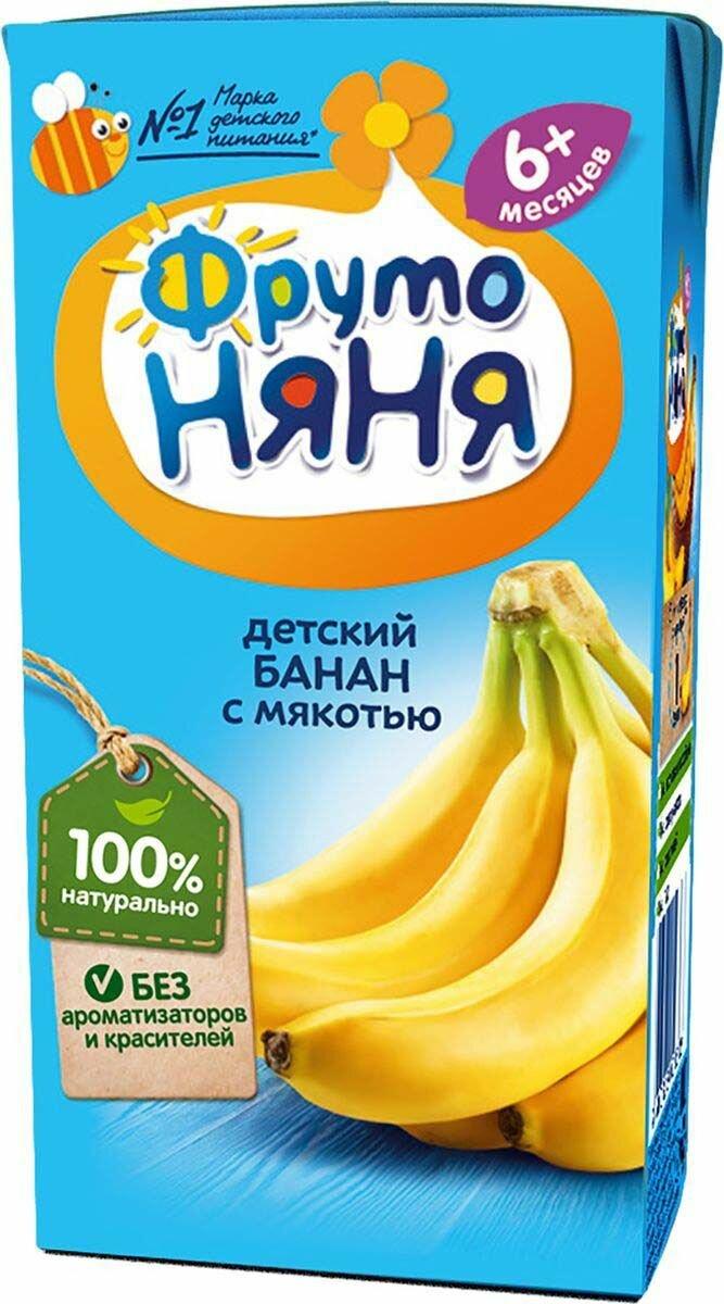 Нектар ФрутоНяня из бананов с мякотью, c 6 месяцев