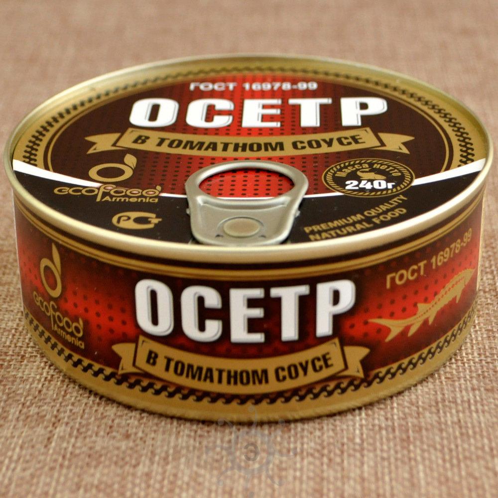 Осетр в томатном соусе Эко Фуд, 240г