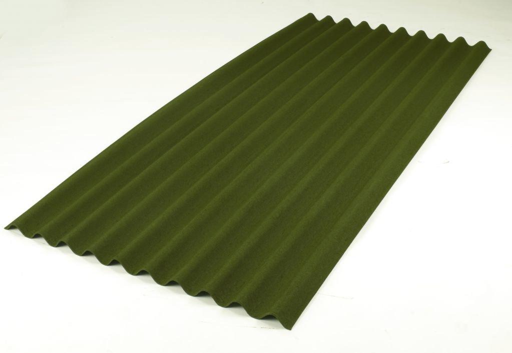 Ондулин Кровельный волнистый лист (зелёный) Onduline