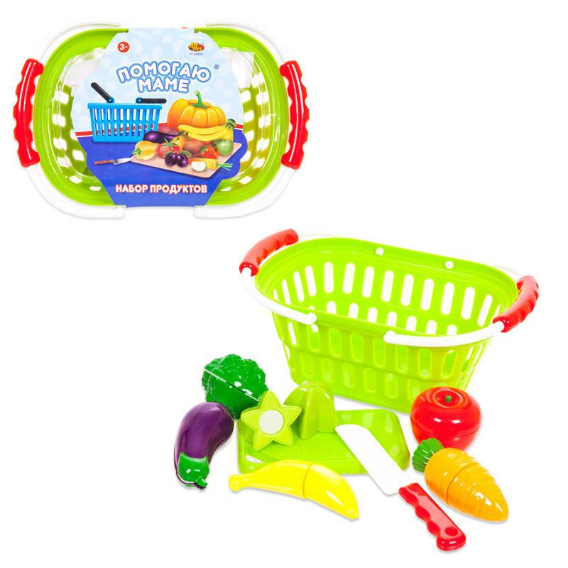 Набор продуктов для резки на липучках Помогаю Маме, 15 предметов - ABtoys. Помогаю Маме - PT-00470