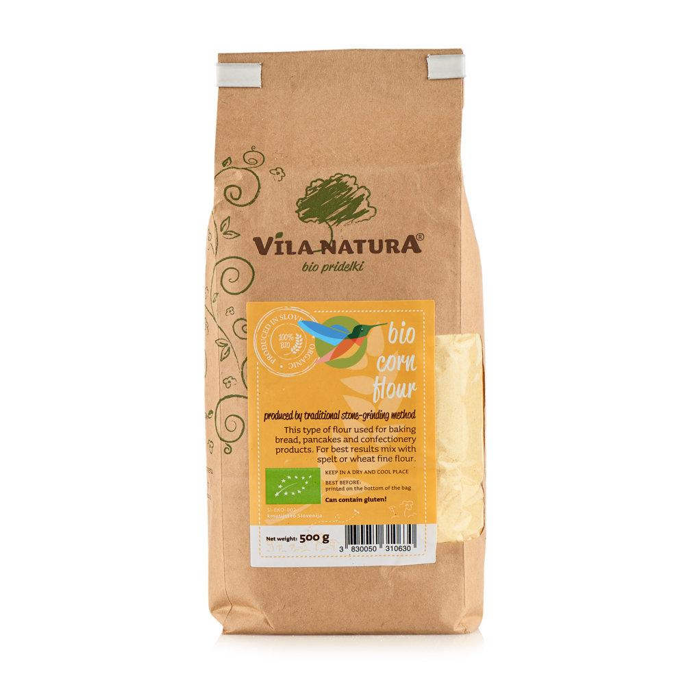 Мука кукурузная жерновая био - Vila Natura
