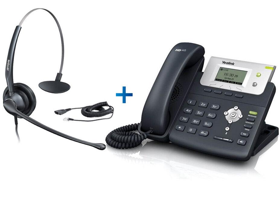 Yealink SIP-T21 E2 - Комплект гарнитуры Yealink YHS33 и IP-телефона