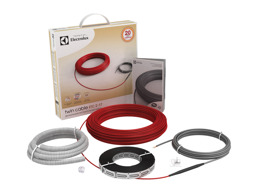 Нагревательный кабель 8 м 2 Electrolux ETC 2-17-1000