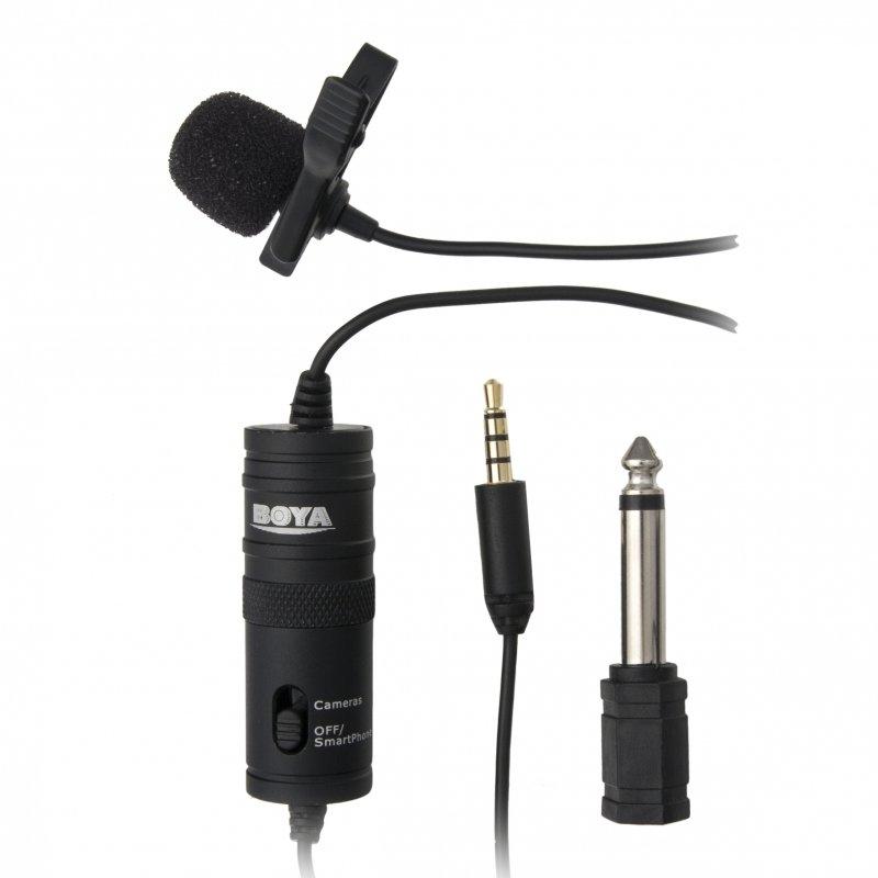 Всенаправленный петличный микрофон BOYA BY-M1 для DSLR и видеокамер