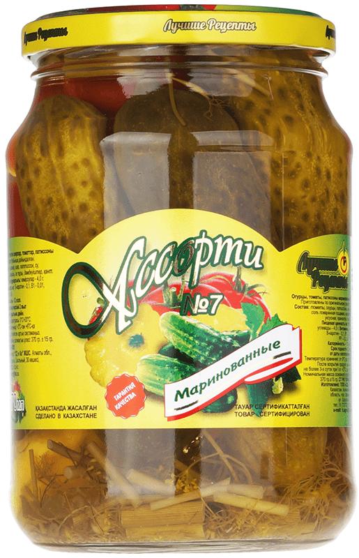 Овощи маринованные Ассорти №7 670мл