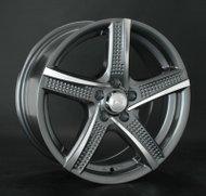 Диски LS Wheels 758 7,0x16 5x100 D73.1 ET35 цвет GMF (темно-серый,полировка) - фото 1