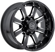 Колесные диски BLACK RHINO SIERRA Gloss Black 9x18 8x165 ET12 D120 Gloss Black Mirror Machine Cut Lip (1890SRA128165B22) - фото 1