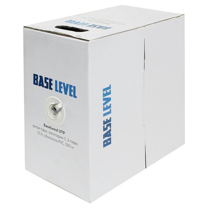 кабель витая пара BaseLevel UTP cat 5, ССА (500 м)