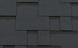 Гибкая битумная черепица RoofShield Модерн Premium Бархатно-черный