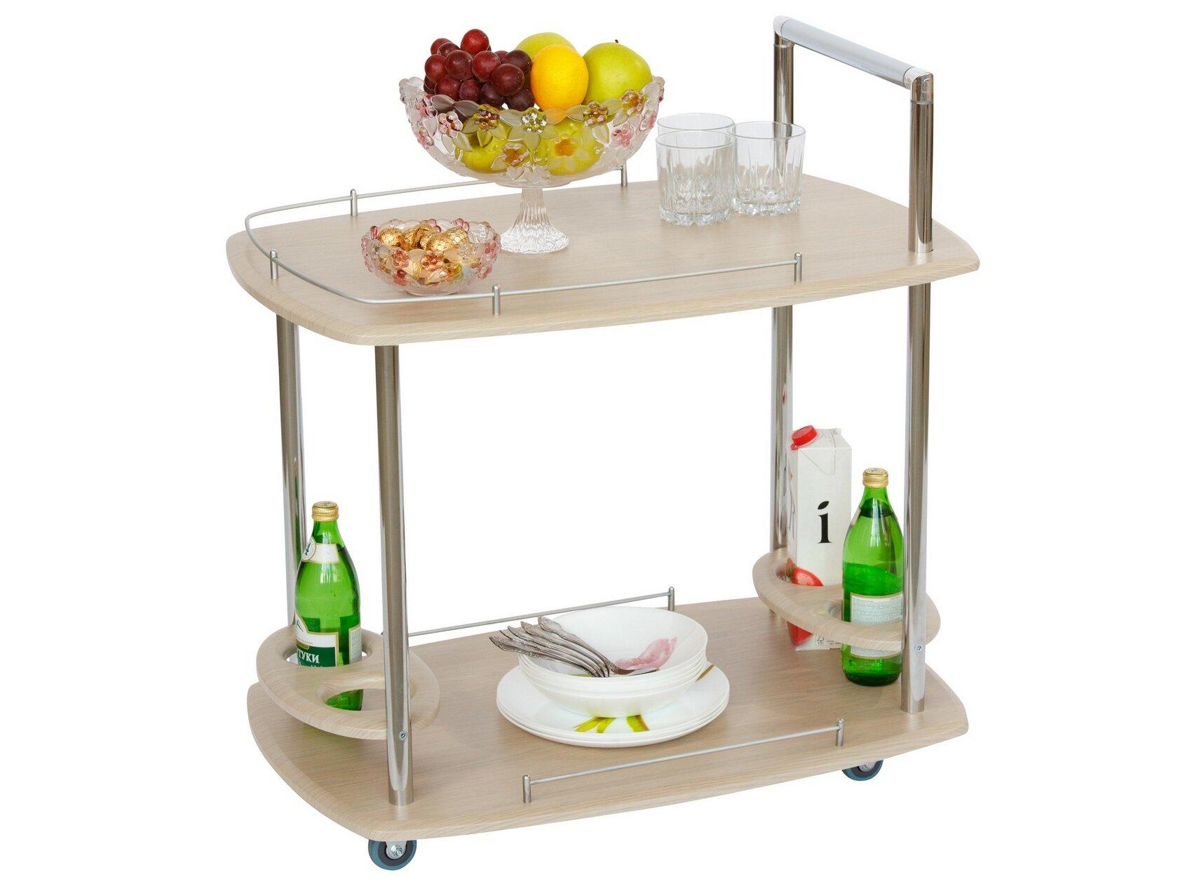 Сервировочный столик Калифорния мебель Стол сервировочный Банкет Светлое дерево