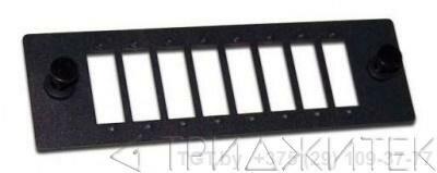 Адаптерная панель на 8 SC адаптеров, для кроссов LAN-FOBM, черная