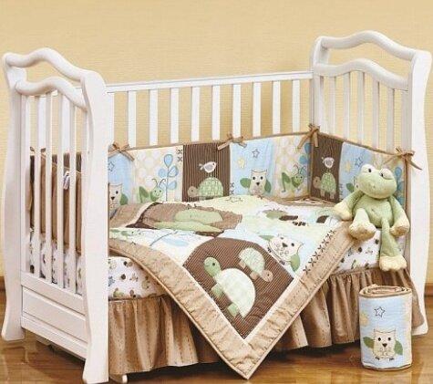"""Набор постельного белья Shapito для новорожденных """"FROGGY FRIEDS"""", 7 предметов"""
