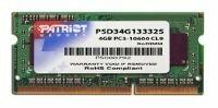 Оперативная память Patriot Signature 4GB DDR3 SO-DIMM PC3-10600 (PSD34G13332S)