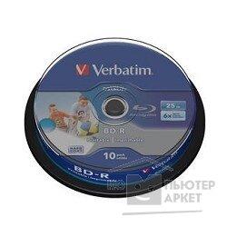 Verbatim BD-R 25 GB 6x CB 10 Full Ink Print NO ID 43804