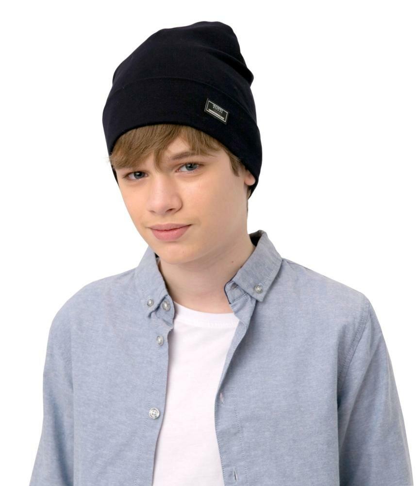 Подростковая демисезонна шапка для мальчиков Вэйлор / 80458 / светло-серый