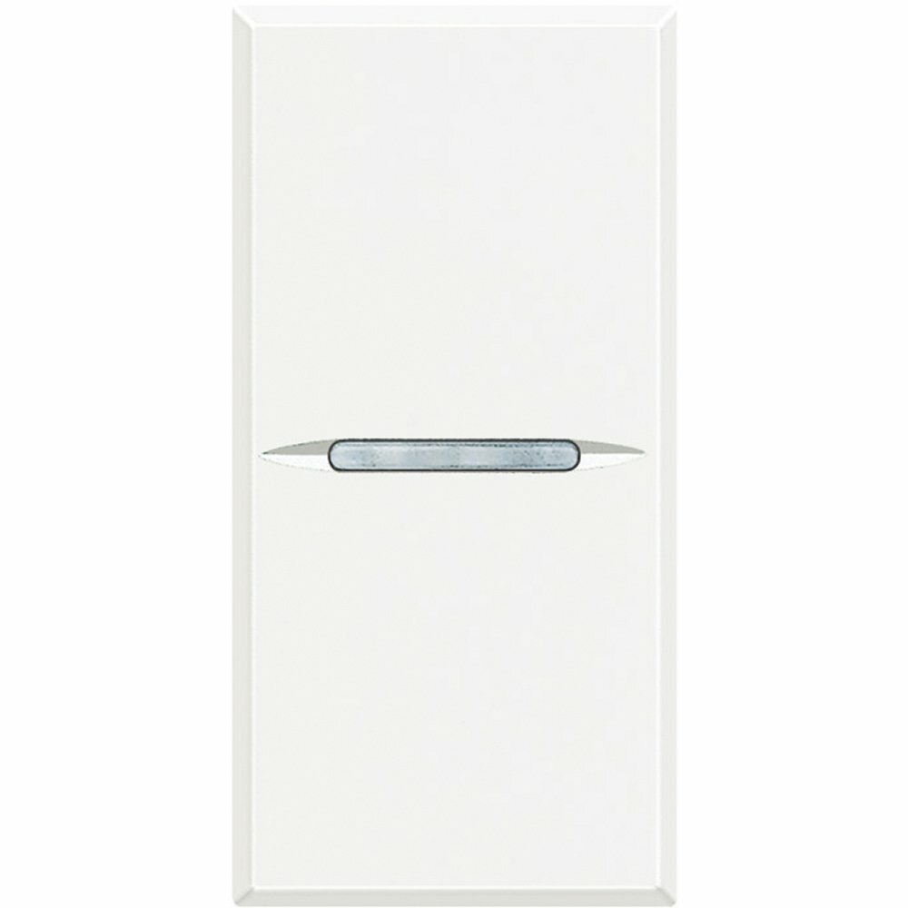 Выключатель 16 А 250 В~, дизайн AXIAL, 1 модуль. Цвет Белый. Bticino AXOLUTE. HD4001N