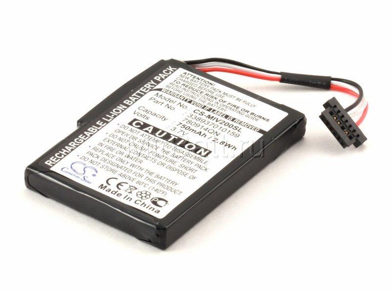 Аккумулятор для GPS-навигатора Mitac Mio Moov 150, 200, 300 серии 3,7V 750mAh код 008.01040