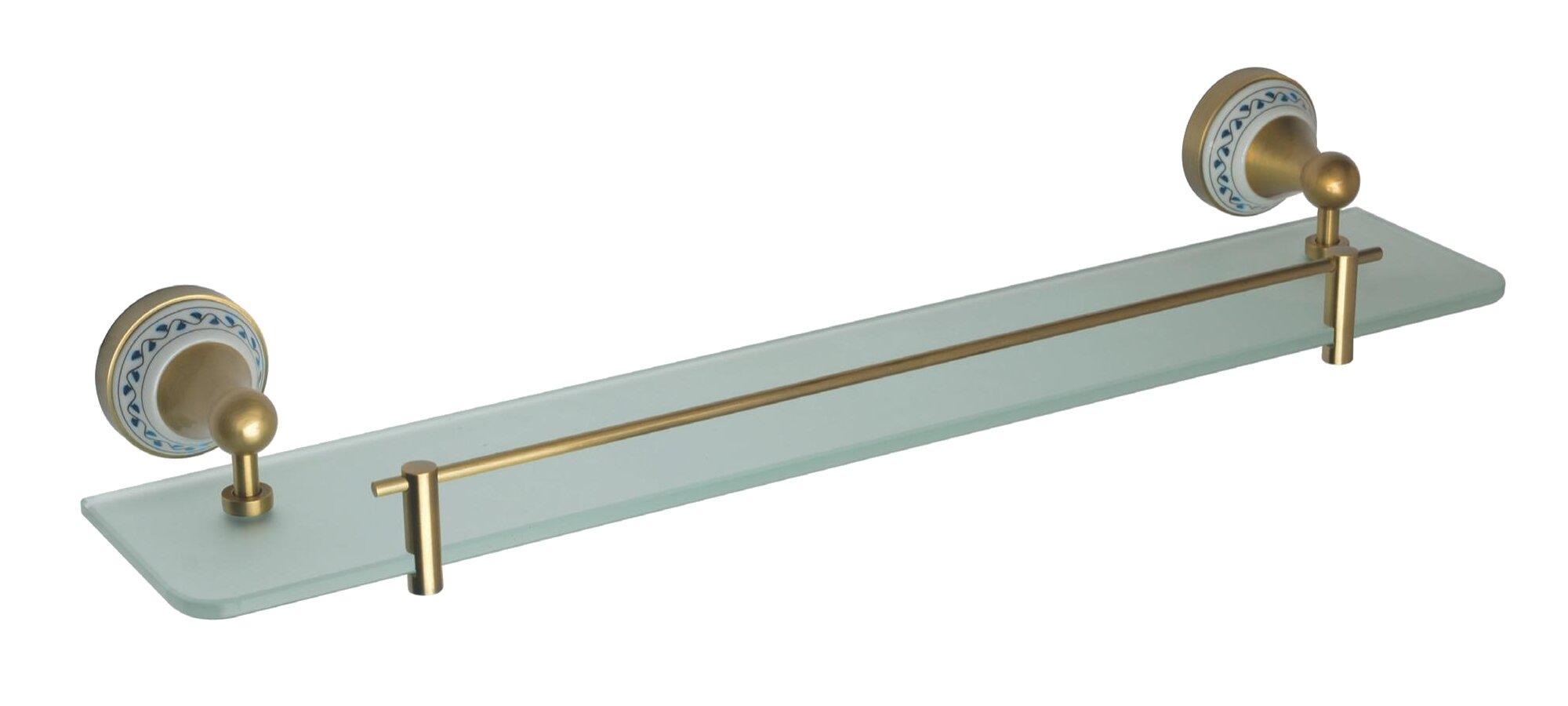 Полочка стеклянная Bemeta Kera с бортиком 60см, керамика, бронза 144702247