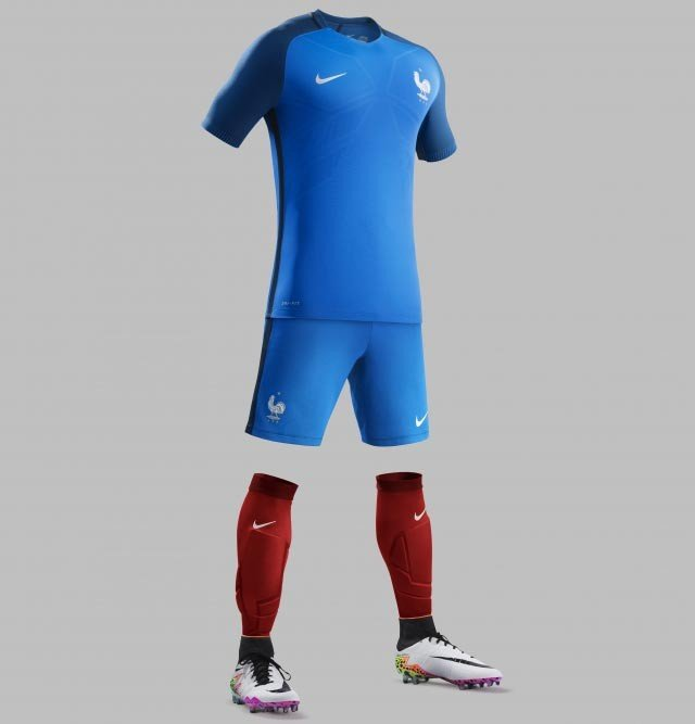 Форма сборной Франции по футболу 2016/2017 (комплект: футболка + шорты + гетры)