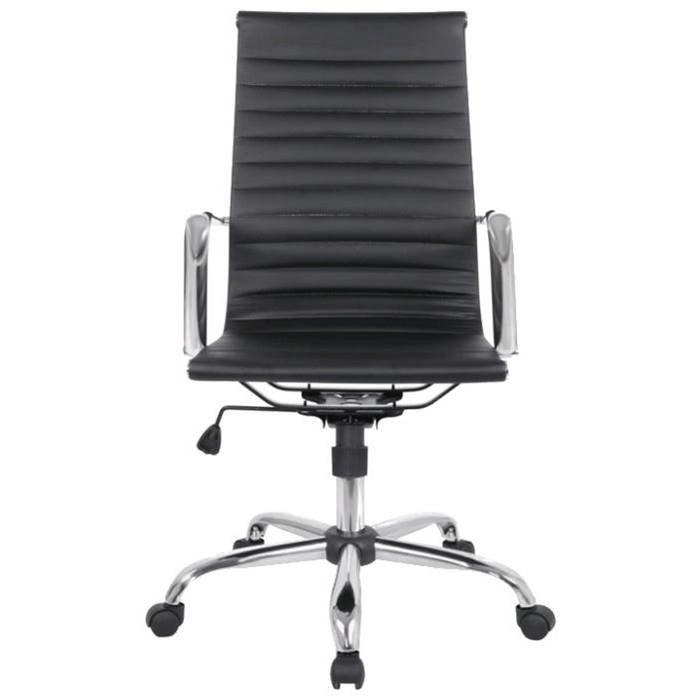Кресло руководителя College H-966L-1 чёрная экокожа, крестовина хром, 120кг