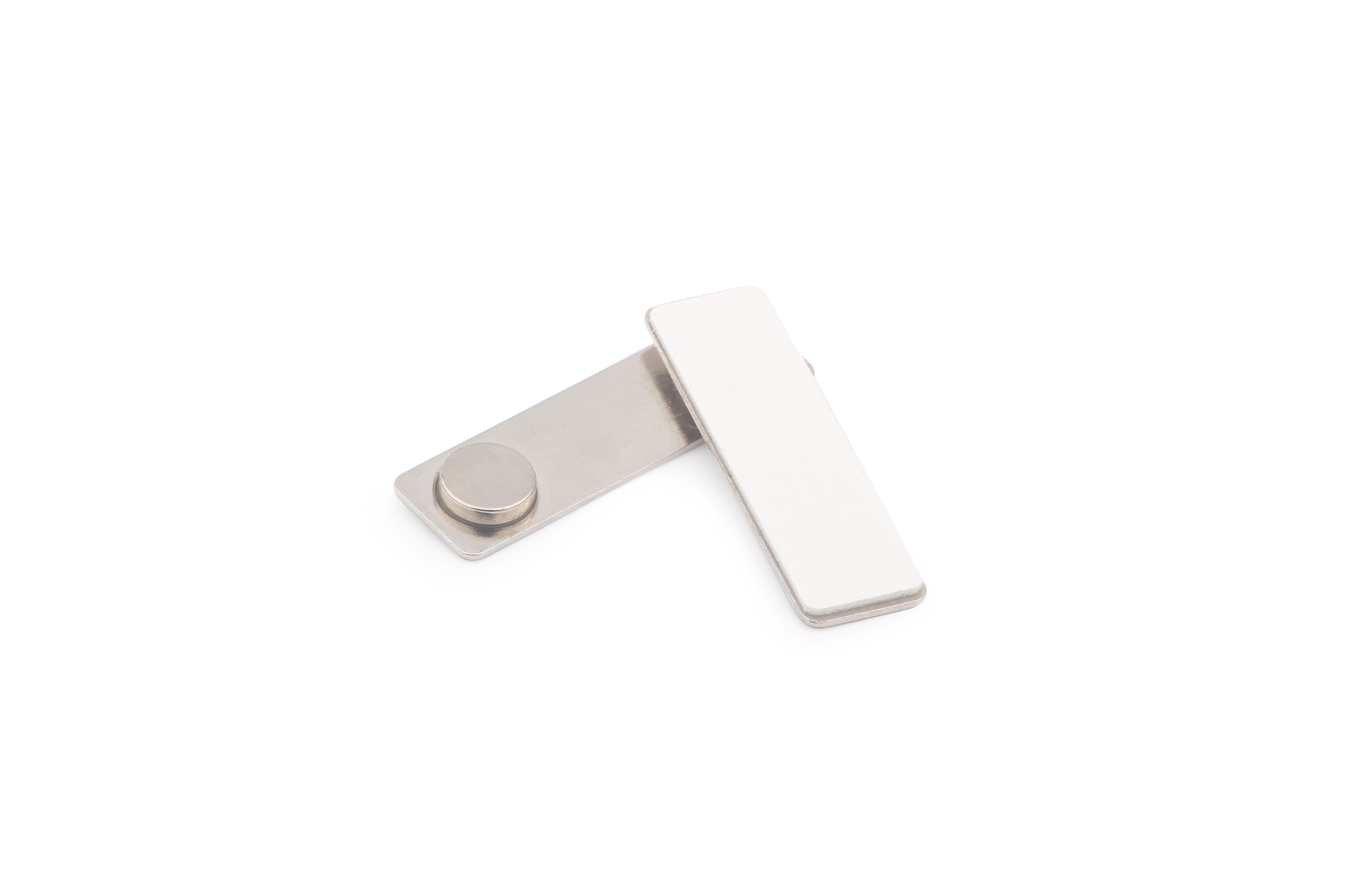 Магнитное крепление для бейджей 45х13 мм, металл