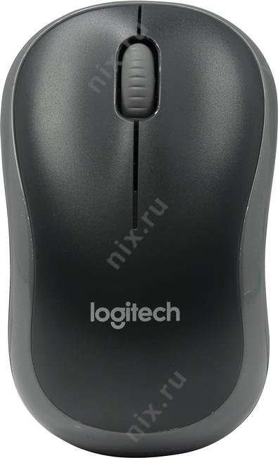 Мышь Logitech Wireless Mouse M185 Grey-Black USB