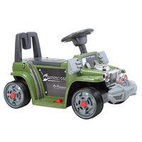 Детский электроминимобиль Jiajia B25 6V, 3-6 лет, музыкальный, дистанционное управление, зеленый (Army Green)