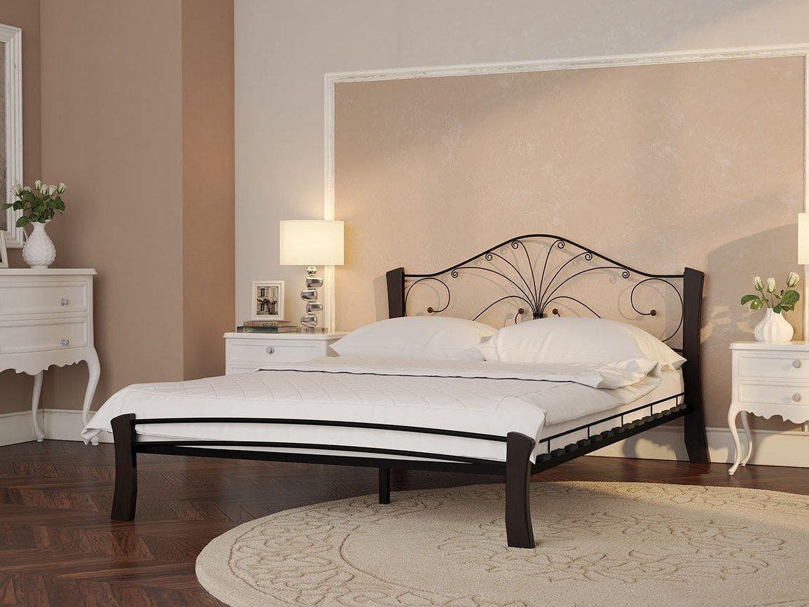 Двуспальная кровать Форвард-мебель Кровать Сандра Лайт Черный, 1600 Х 2000 мм