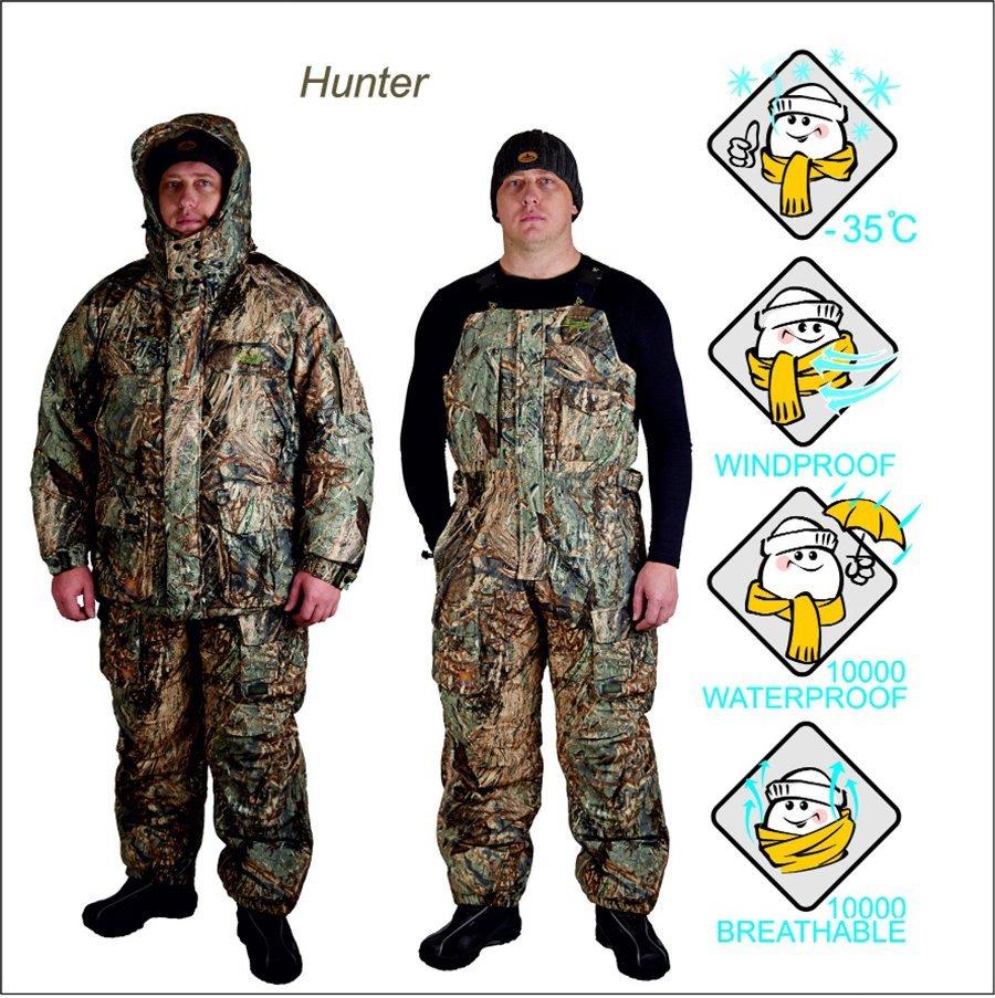 Костюм охотничий зимний Canadian Camper Hunter серый камуфляж