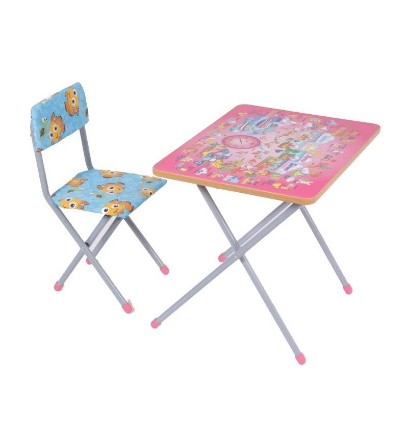 Комплект детской мебели Фея Досуг № 201, цвет: розовый