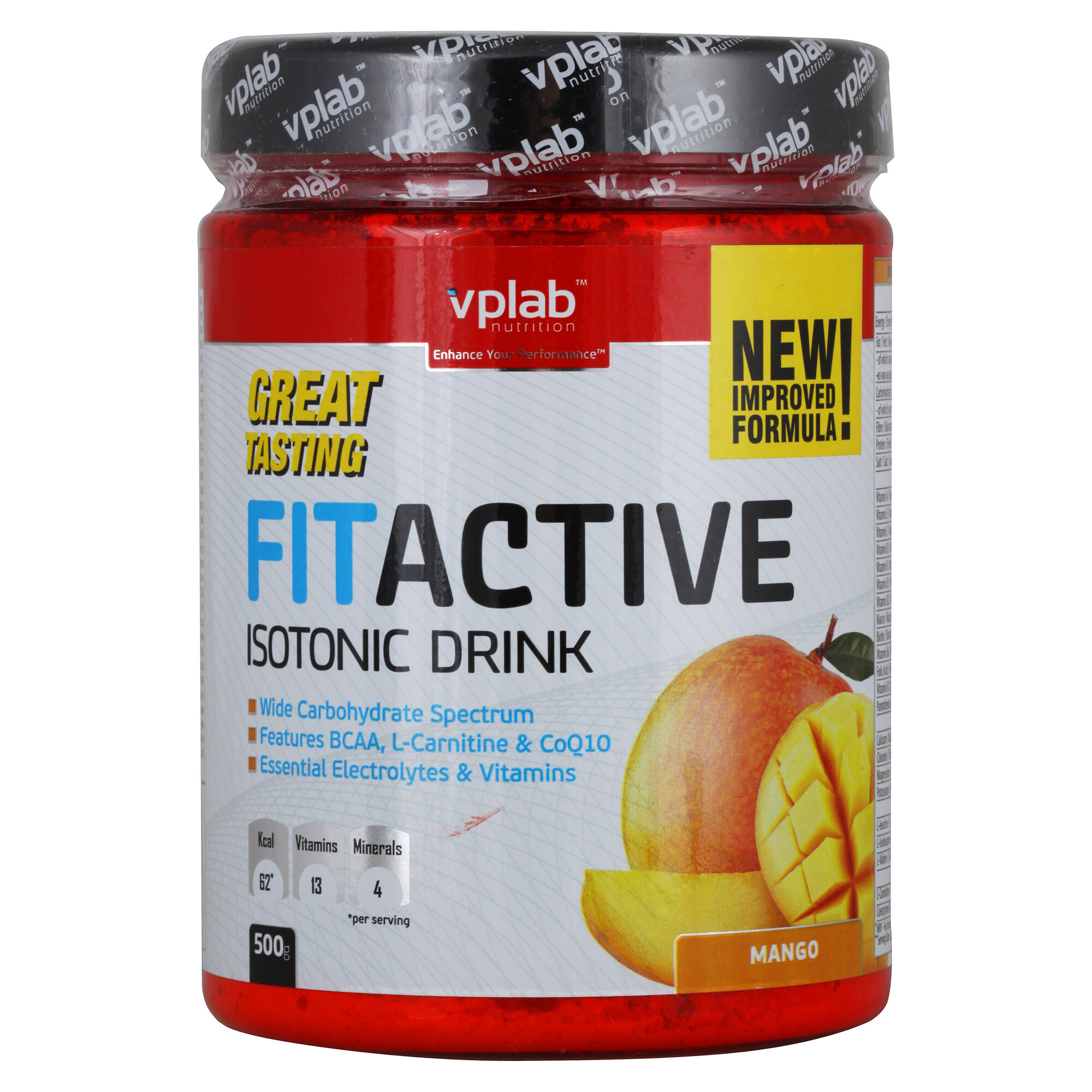 VP Laboratory FitActive Isotonic Drink, 500 г, вкус: манго