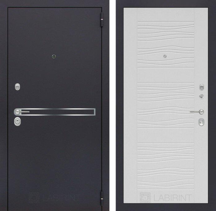 Дверь входная металическая LINE 06 - Белое дерево