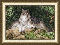 """Набор для вышивания """"Лесные хищники"""" Золотое руно дж-027 (вышивка крестом)"""