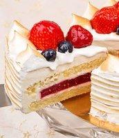 Торт №19 «Яблочный мусс и малиновое желе»