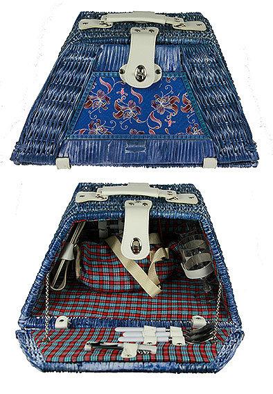 Набор для пикника на 2 персоны в корзине 30125, 46*30*19*26*24см