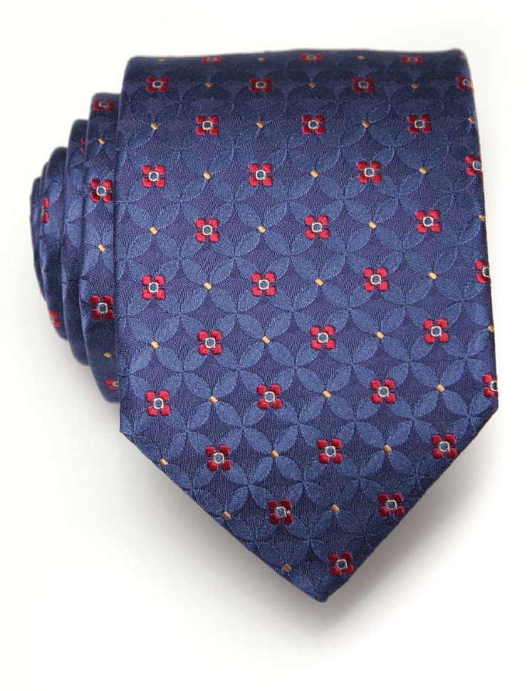 Мужской синий галстук слегка переливается ClubSeta 7977