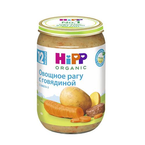 """Пюре """"Овощная смесь с говядиной"""", для детей с 12 месяцев - Hipp"""