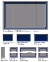 Витебские ковры Композиция из полушерстяных ковров и ковровых дорожек 15x20 м.