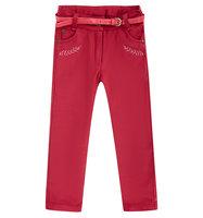 Брюки Bembi цвет: красный, для девочек, размер 98