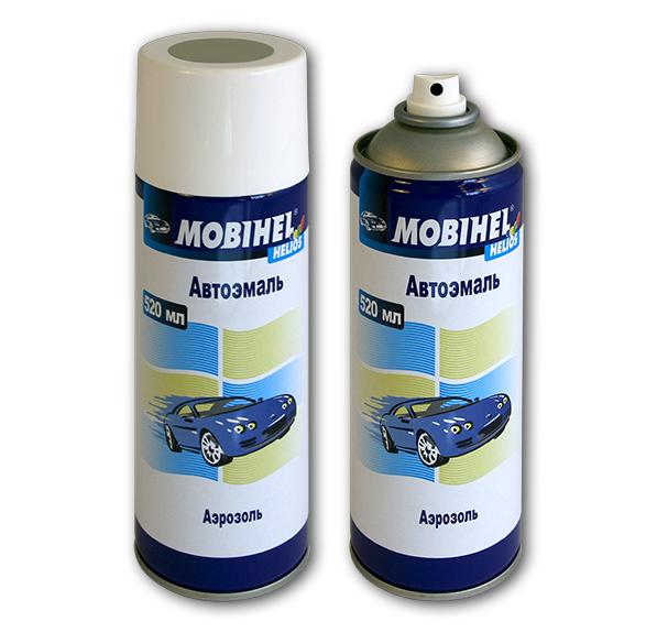 Автомобильная аэрозольная краска Mobihel металлик 520 мл Цвет: 626 Мокрый асфальт металлик Mobihel 19822