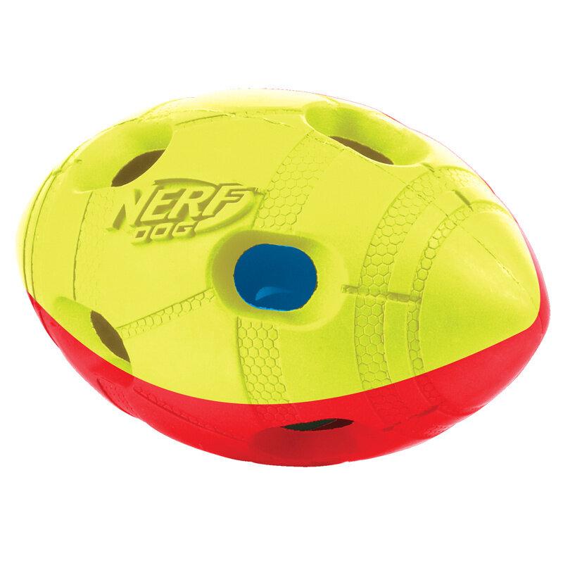 Nerf Мяч для регби, двухцветный светящийся (S)