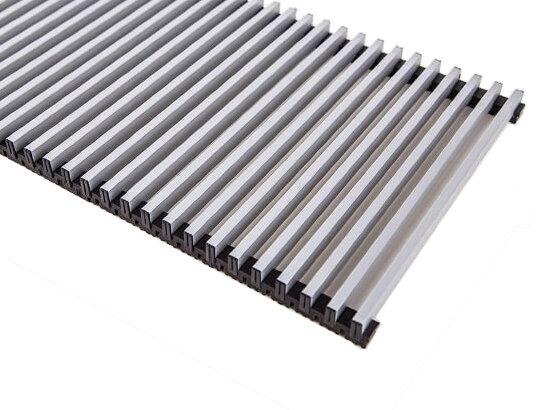 Декоративная решетка Techno серия Elite 300x1000/С Алюминиевая Серебряная