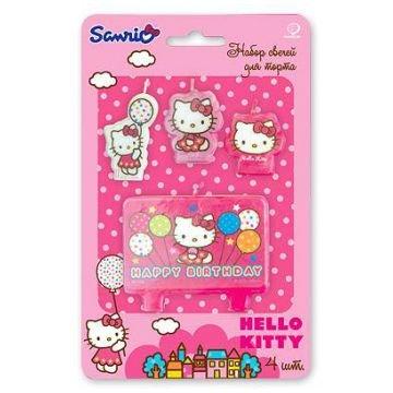 Свечи для торта Весёлая затея HB Hello Kitty