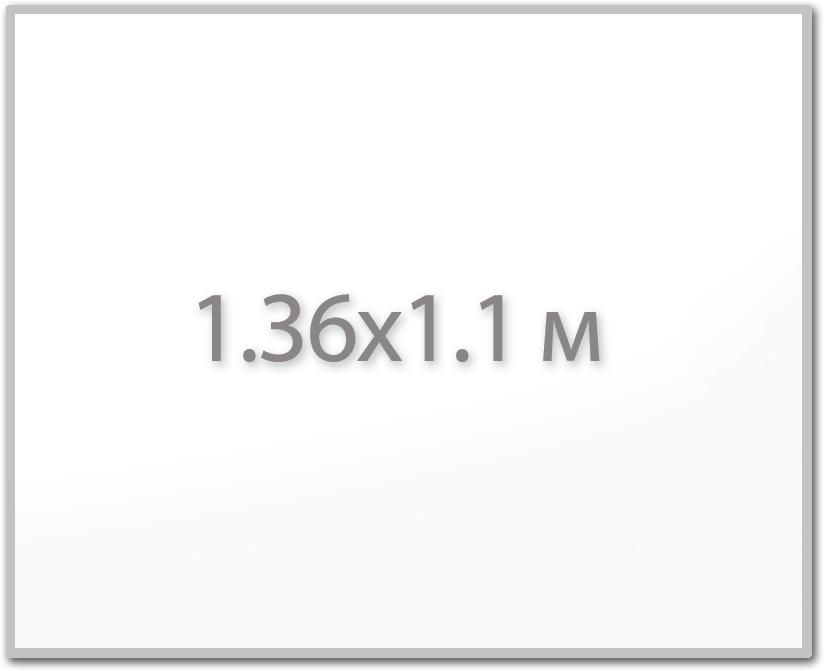 Магнитная доска 1.36х1.1 м.,  Стандарт  ИП Севостьянов Магнитная доска 1.36х1.1 м.,  Стандарт 