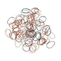 Резинки для волос Dewal цветные силикон, mini (100 шт.)